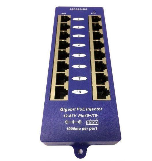 Gigabitový stíněný 8-portový PoE panel OEM