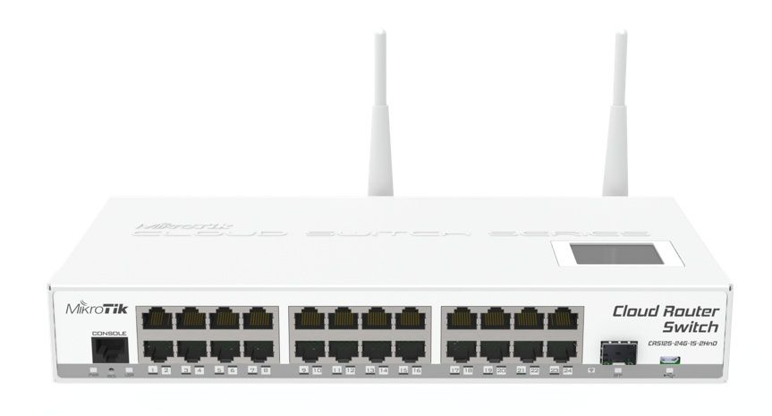 MikroTik CRS125-24G-1S-2HnD-IN,L3 switch 2.4G WiFi