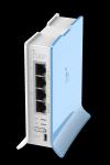 MikroTik RouterBOARD RB941-2nD-TC, hAP-Lite, 650Mhz CPU, 32MB RAM, 4xLAN, 2.4Ghz 802b/g/n, ROS L4, case, PSU