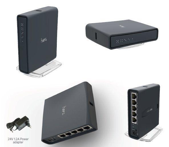 MikroTik RouterBOARD RB952Ui-5ac2nD-TC, hAP ac lite tower, 5x LAN, 2.4+5Ghz, 802.11a/b/g/n/ac, USB, 1x PoE out